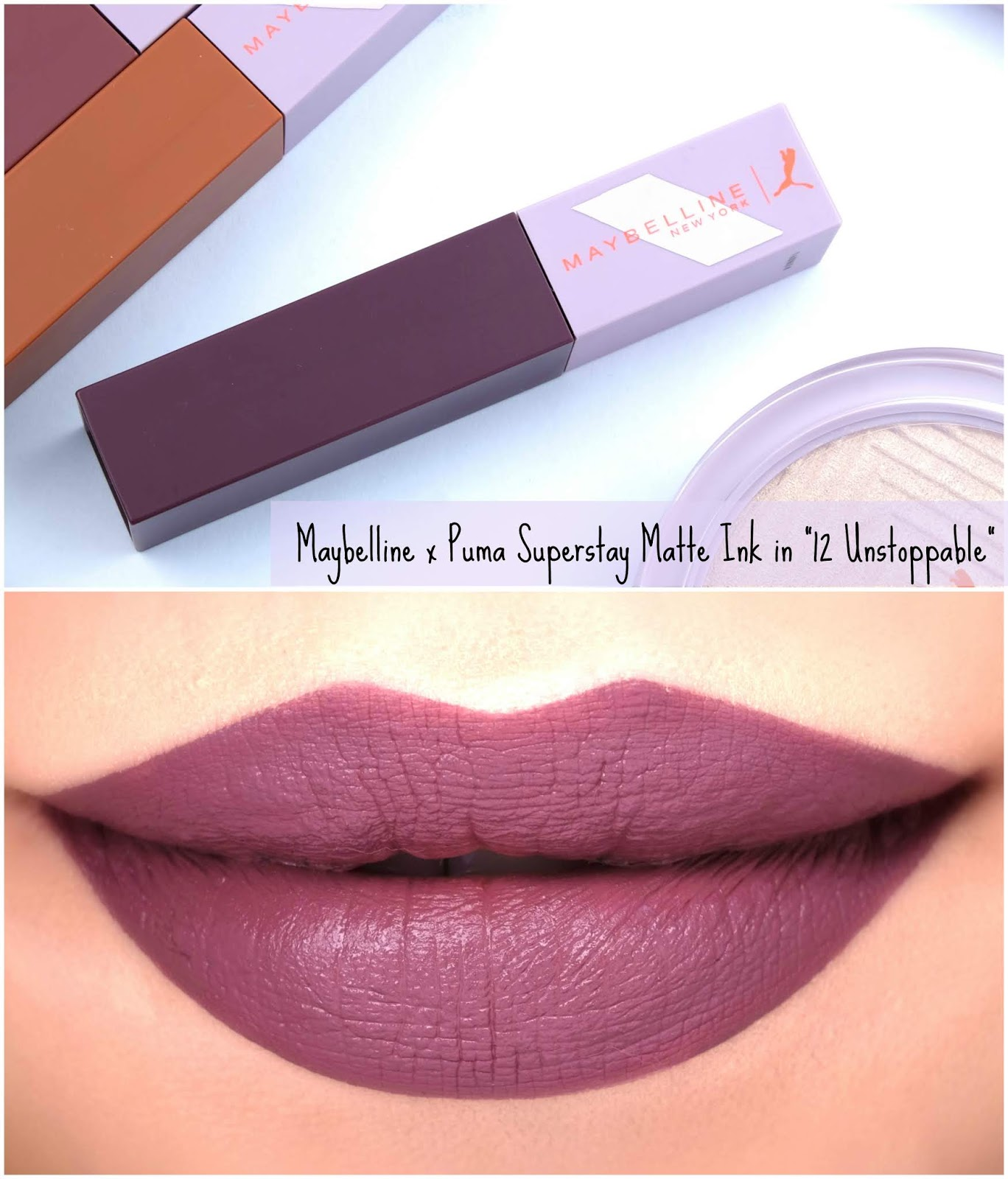 "Maybelline | Maybelline x Puma Superstay Matte Ink in ""12 Unstoppable"": Review and Swatches"