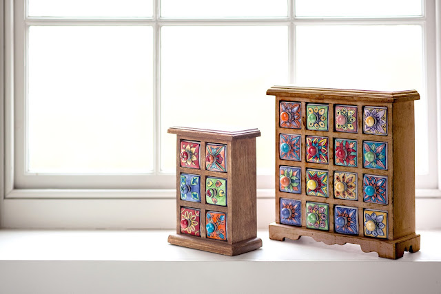 Floral Storage Chests