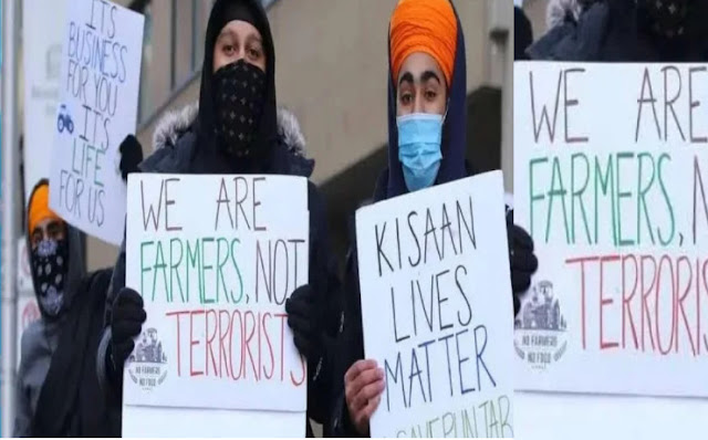 Slogan of support for farmer movement echoed abroad