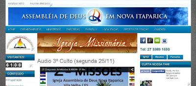 Criação de Site para Igreja Evangélica