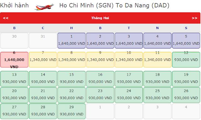 Vietjet giảm giá vé máy bay tết 2016 đi Đà Nẵng