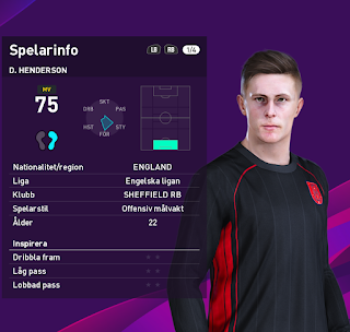 PES 2020 Faces Dean Henderson by Emilang