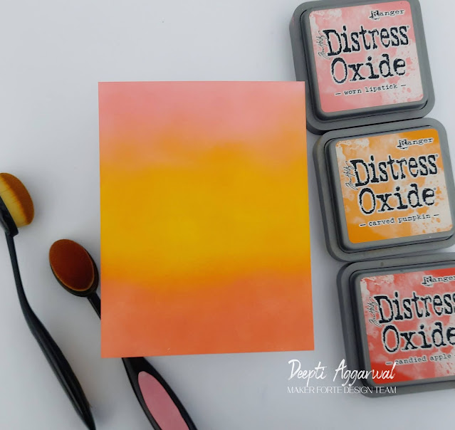 Ink blended Background with Distress Oxides