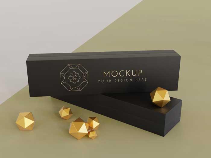 Jewellery Packing Display Mockup