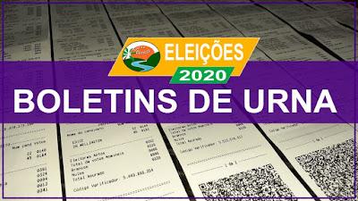 Boletins de urna das eleições 2020