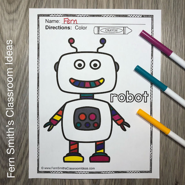 Free Long Vowel and Short Vowel Coloring Book Pages For Your Classroom in this Freebie Friday Blog Post from #FernSmithsClassroomIdeas