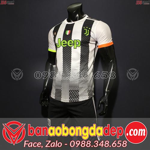 Áo Juventus Màu Trắng Đen 2020 Training 29