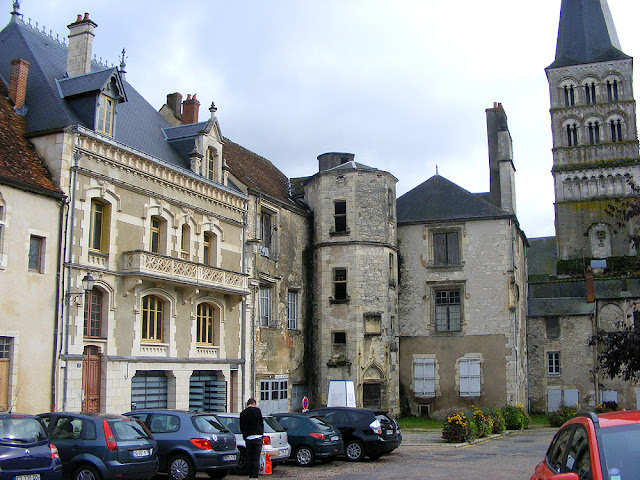 Lodgings behind the nave of the priory church, La Charite sur Loire, Nievre, France. Photo by Loire Valley Time Travel.