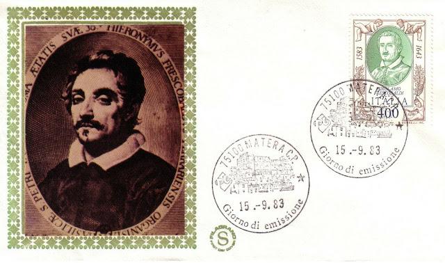 Girolamo Frescobaldi, composer, 1983 FDC
