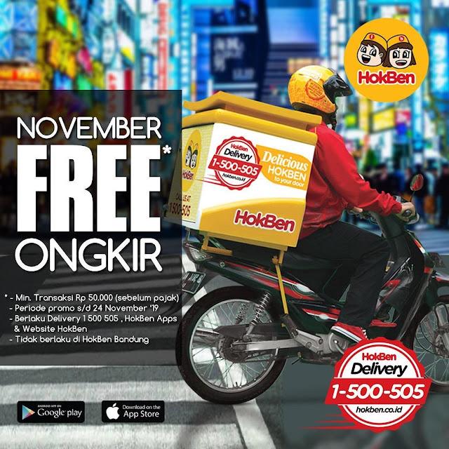 #Hokben - #Promo November Free Ongkir di Hokben Apss & Website (s.d 24 Nov 2019)