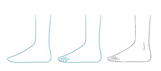 Tampilan sisi kaki anime