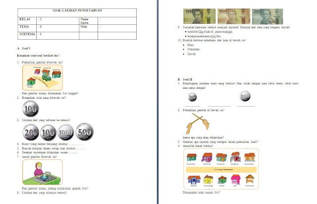 Soal PH Kelas 2 SD/MI: Tema 3