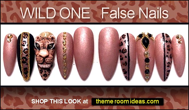 WILD ONE  leopard print false nails - animal print nail leopard nail design - leopard nails