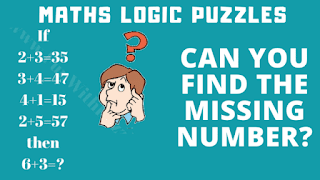 Can you find the missing number? If 2+3 = 35, 3+4 = 47, 4+1 = 15, 2+5 = 57 then 6+3 = ?