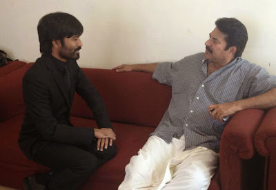 Dhanush with Mammootty