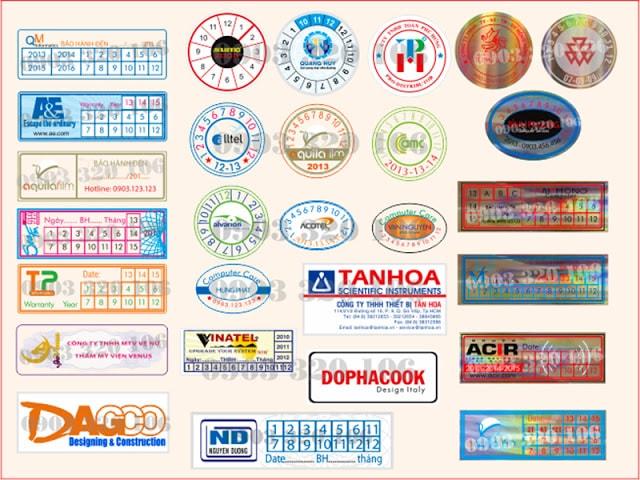 In tem niêm phong - in tem decal giá rẻ tại quận tân phú tphcm