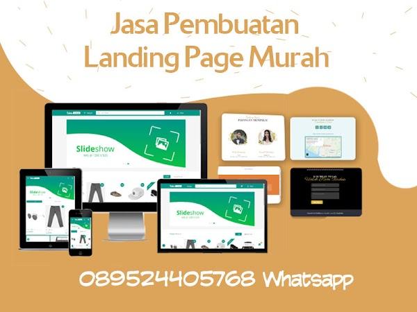 Jasa Landing Page Blog dan Website Murah dan Cepat