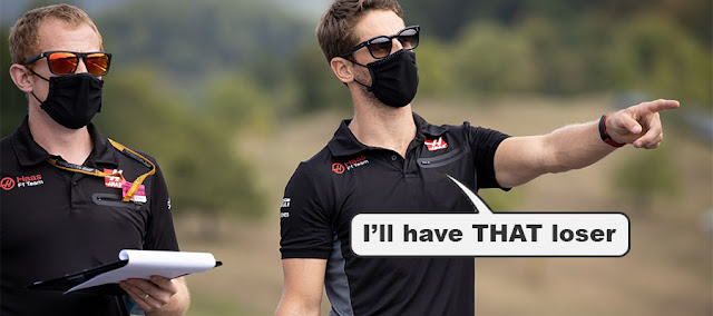 """Haas driver saying """"I'll have THAT loser"""""""