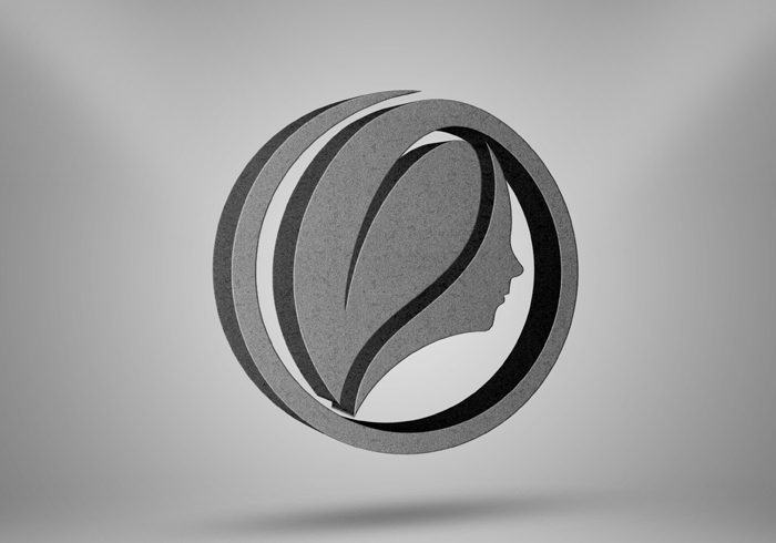 3D Realistic Perspective Stone Effects Logo Mockup