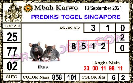 Prediksi Jitu Mbah Karwo SGP45 Senin 13-09-2021