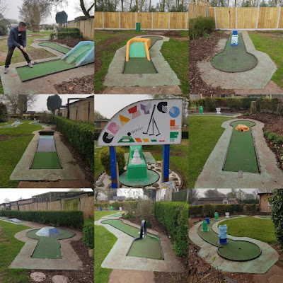 Crazy Golf at Fletchers Family Garden Centre in Eccleshall