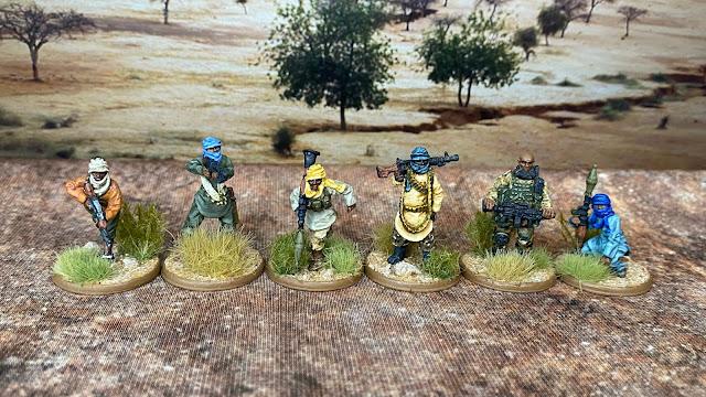 Footsore Miniatures 28mm Boko Haram used as African Islamic terrorist insurgents