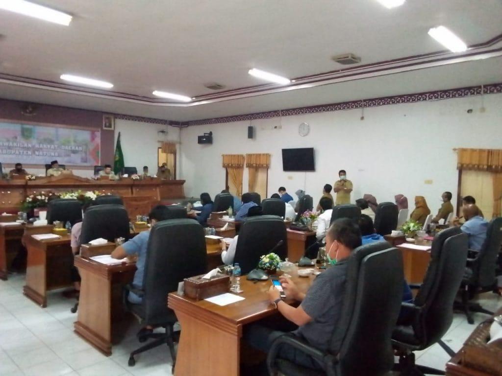 Pimpin RDP,  Wakil Ketua II DPRD Natuna Sesalkan Klinik Yang Mengeluarkan Rapid Test