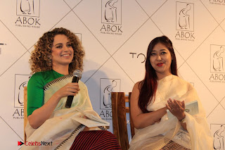 "Actress Kangana Ranaut Pos in Lehenga Choli at ""Between the Poet and her Pencil"" Book Launch  0010.jpg"
