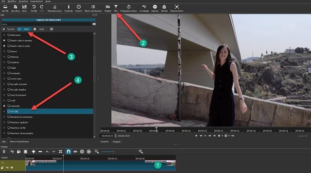 applicare i filtri LUT 3D ai video con Shotcut
