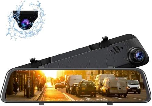 YEESTEK Mirror Dash Cam Full HD Dash Camera for Cars