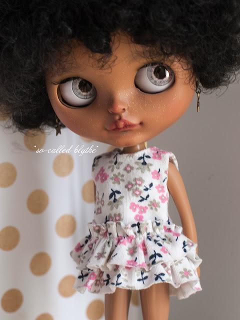 Kala OOAK custom doll grey eyes