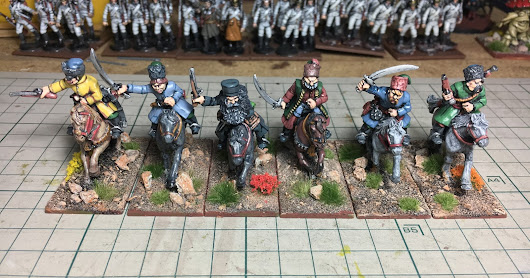 Wet paint: some Cossacks
