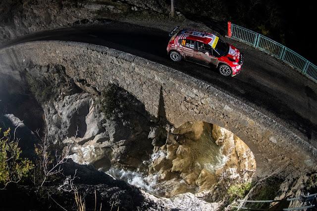 Rally racing car at rallye monte carlo