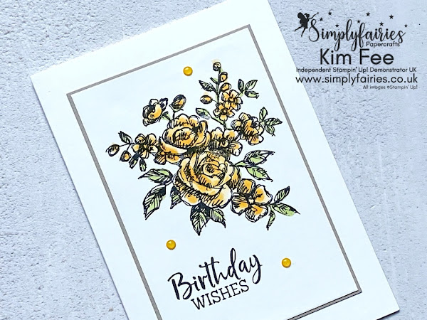 Simple Stamping Sunday with Fancy Phrases Stamp Set.