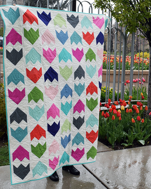Tulip Fields Quilt Free Tutorial designed by Audrey Mann of The Cloth Parcel Designs for Modabakeshop