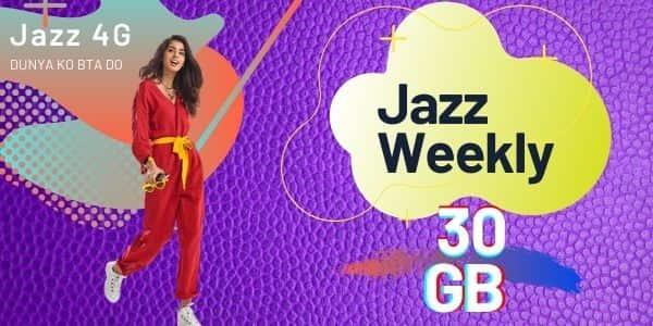 Jazz Weekly Internet Package 30GB Code