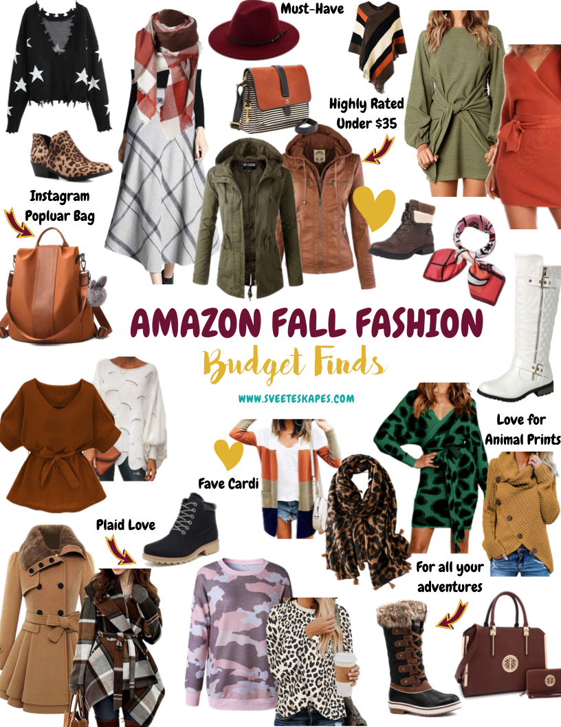 Amazon Fall Fashion Budget Finds by top US lifestyle blog, Sveeteskapes