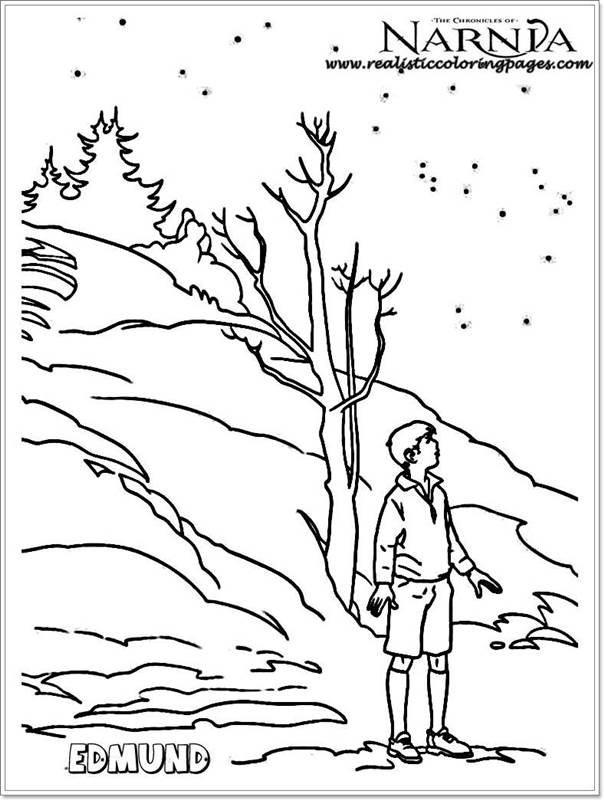 Edmund Chronicles Of Narnia Coloring Pages Realistic