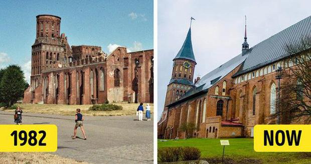 Nhà thờ Konigsberg được thiết kế theo phong cách gothic, cũng từng chịu nhiều thiệt hại lớn trước đó. Nhiệm vụ phục hồi công trình này được bắt đầu vào đầu những năm 1990 và kết thúc vào năm 2005. Nhà thờ nổi tiếng nước Nga này hiện có 2 nhà nguyện và một bảo tàng, được xem là địa điểm yêu thích cho các buổi hòa nhạc organ cũng như thu hút lượng lớn du khách tham quan mỗi ngày.