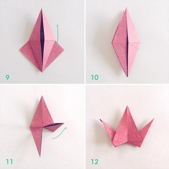 plegado de papel grulla