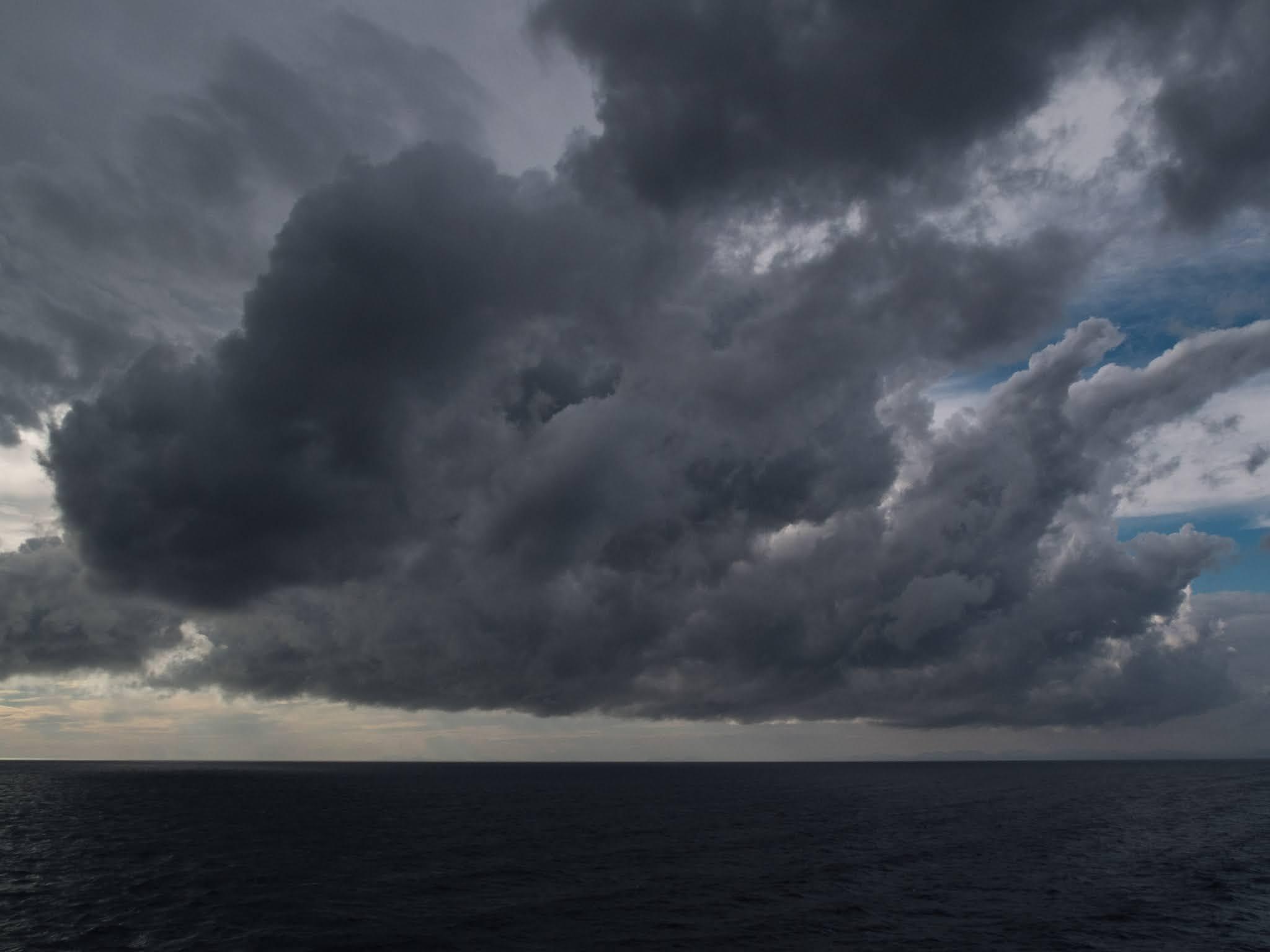 Dramatic sky over the Mediterranean Sea