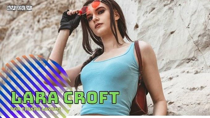 Trisha Layons con su cosplay de Lara Croft