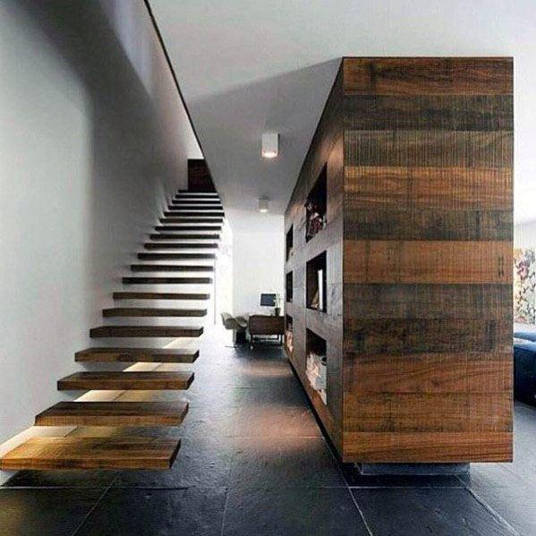 Desain Tangga Kayu Modern