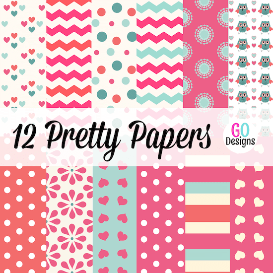 New Valentine paper packs! 12 beautiful papers in red, pink, aqua, cream and white. Lots of variety and great prices!