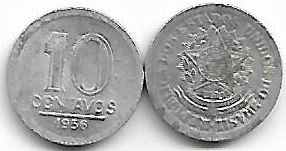 10 centavos, 1956