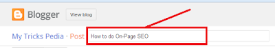 optimizing post title for on-page seo