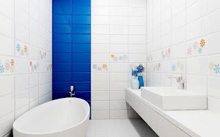 motif keramik dinding kamar mandi sederhana