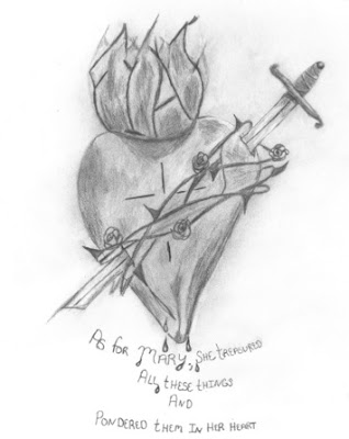 Original image drawn by one of our sisters (c) Sisters of the Visitation