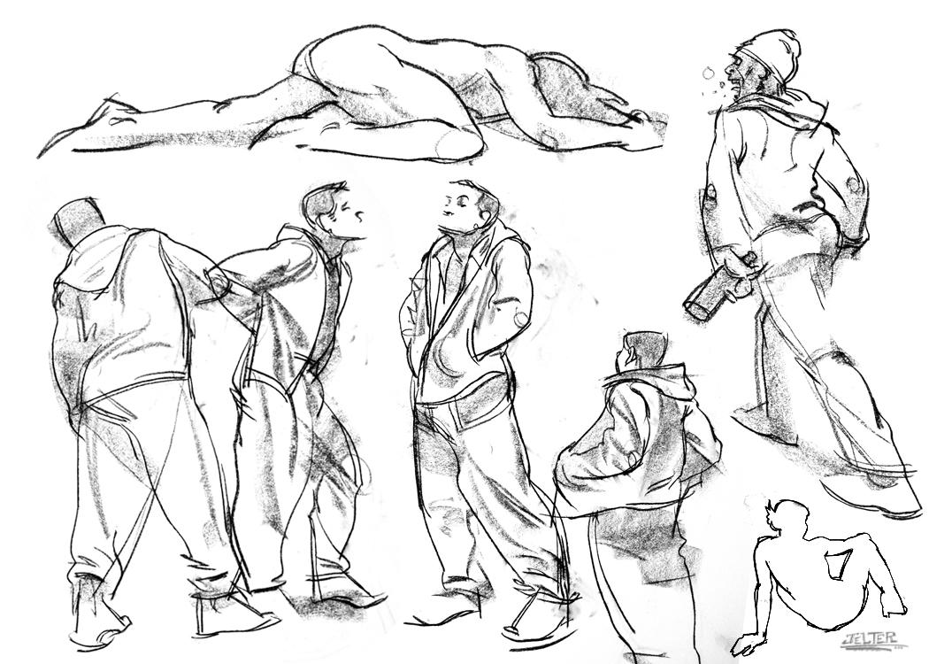 Ben Jelter Art: Monday Quickstudies