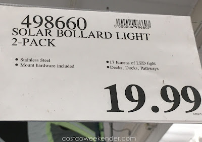 Deal for the Artika i6 Solar Bollard Light at Costco